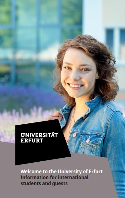 Flyer Welcome to University of Erfurt