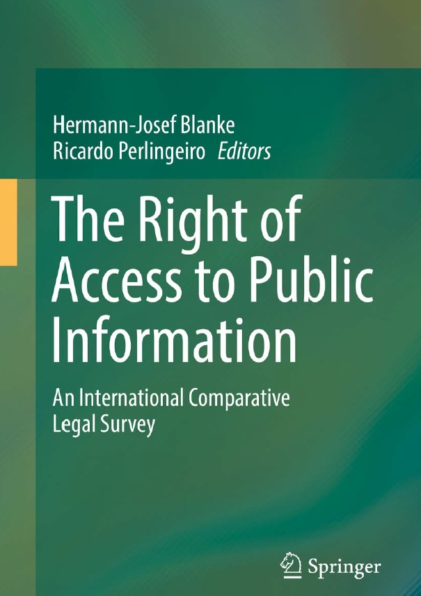Buchcover Blanke/Perlingeiro: The Right of Access to Public Information